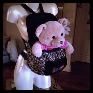 Handbags - Front pet dog carrier , rhinestone, animal print,